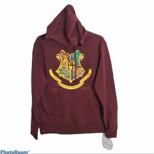 Harry Potter Hogwarts Hooded Sweatshirt NWT Small